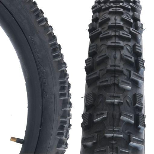 "Unicycle Tyre 24"" x 1.75"" - Black"