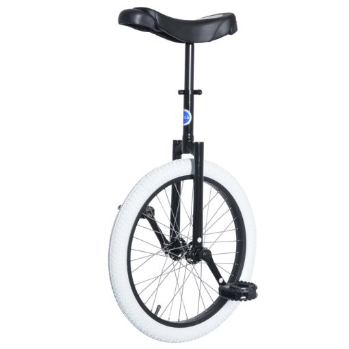 "20"" Club Freestyle Unicycle - Black with White Tyr"