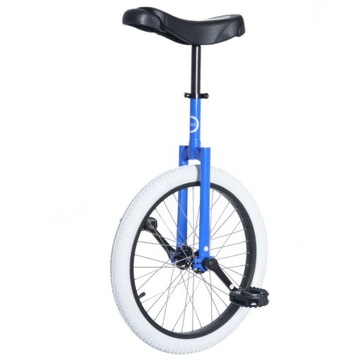 "20"" Club Freestyle Unicycle - Blue with White Tyre"