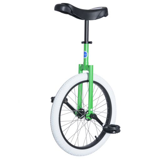 "20"" Club Freestyle Unicycle - Green with White Tyre"