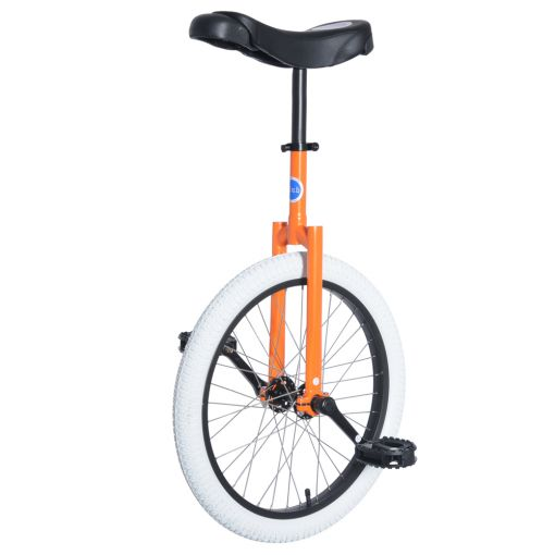 "20"" Club Freestyle Unicycle - Orange with White Tyre"