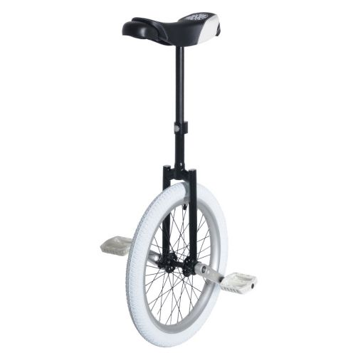 "20"" Nimbus II Unicycle - Black & White Custom"
